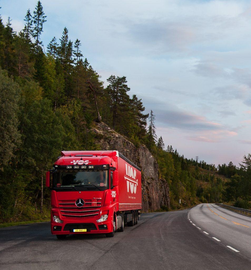 Internationaal transport door Vos