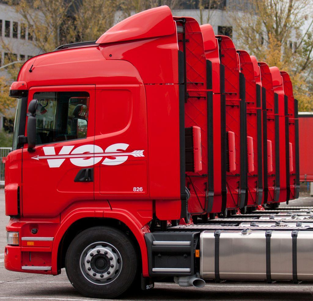 Vrachtwagen voor transport naar Denemarken