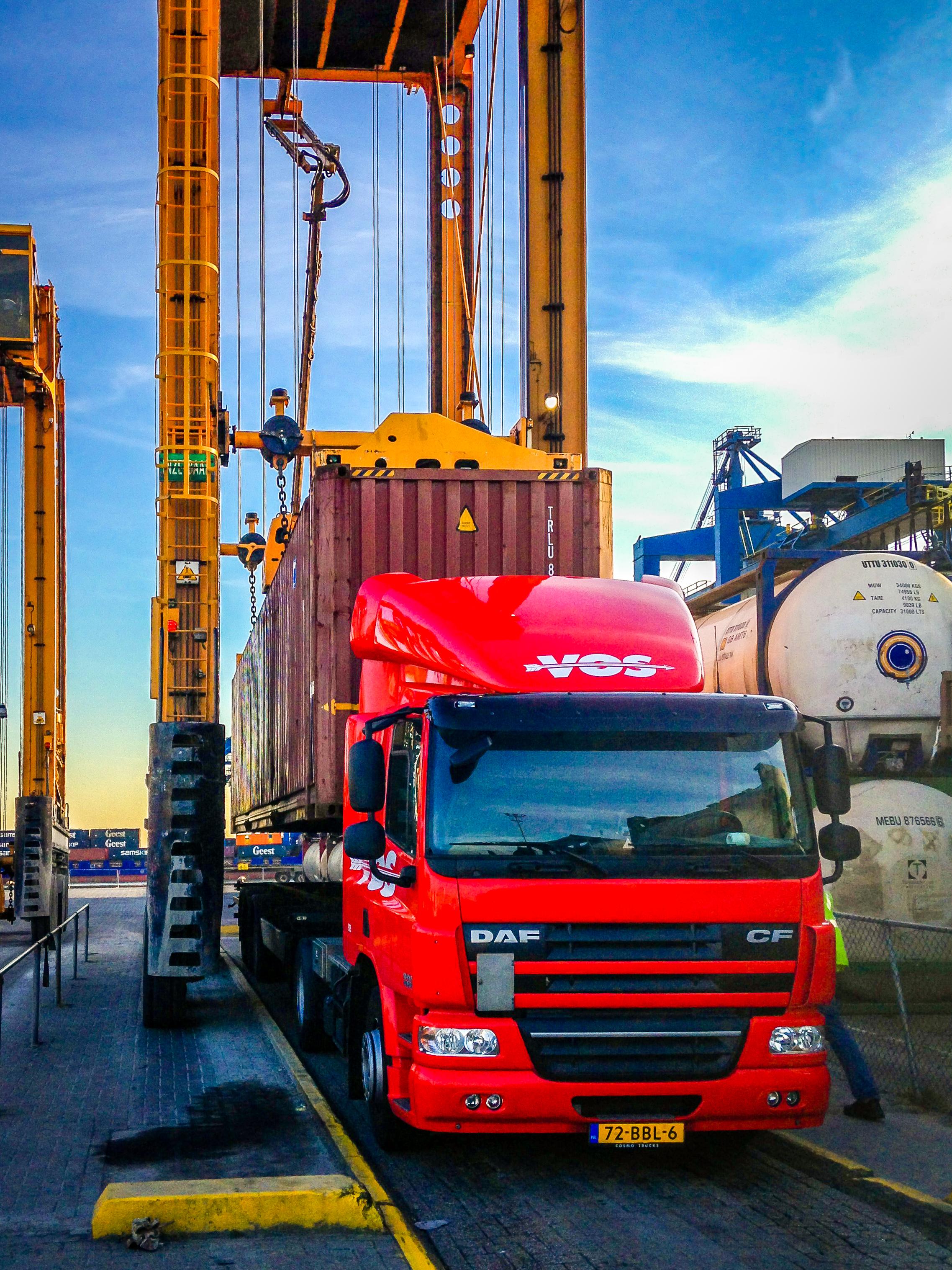 Container transport Zweden